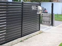 Image result for black fencing gate