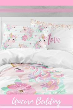 Image Result For Pillows And Bedding From Home Goods That Have Unicorns For Girls And For A Twin Size Bed Toddler Duvet Cover Toddler Duvet Toddler Comforter