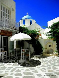 Lovely platia in Paros island