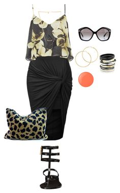 """""""wrap skirt style4/late night beach date"""" by kristie-payne ❤ liked on Polyvore"""