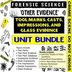 This bundle includes all products from my Forensic Science Other Evidence Unit.This bundle includes:• Learning Targets and Study Questions• PowerPoint Presentation• Fill-in Style Notes Handouts• Review Worksheet• Chapter Test*Vocabulary Assignment is sold separately in the Forensic Science Vocabular... Learning Targets, Science Worksheets, Forensic Science, Forensics, Vocabulary, Fill, Presentation, It Cast, Notes