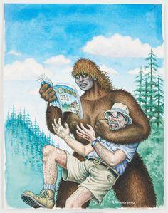 Crumb, Outside Magazine Where to Look for Bigfoot, Photo: Courtesy Paul Morris and David Zwirner, New York © Robert Crumb Robert Crumb, Comic Kunst, Fritz The Cat, Jordi Bernet, Alternative Comics, Hip Hop Art, Art Moderne, Museum, Bigfoot
