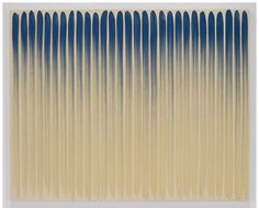 'From Line' (1974) by Korean painter & sculptor Lee Ufan (b.1936). Oil on canvas, 71.5 x 89.375 in. via Pace Gallery