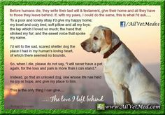 Legacy and wish of a dog