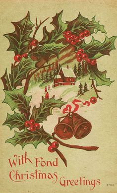 Vintage Christmas holly