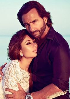 Bollywood couple Saif Ali Khan and Kareena Kapoor Bollywood Stars, Bollywood Couples, Bollywood Photos, Bollywood Girls, Indian Celebrities, Bollywood Celebrities, Bollywood Actress, Saif Ali Khan, Shahrukh Khan