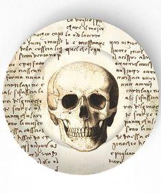Neuro!!!  Da Vinci  human skull  10 inch Melamine Plate by TheMadPlatters, $18.00