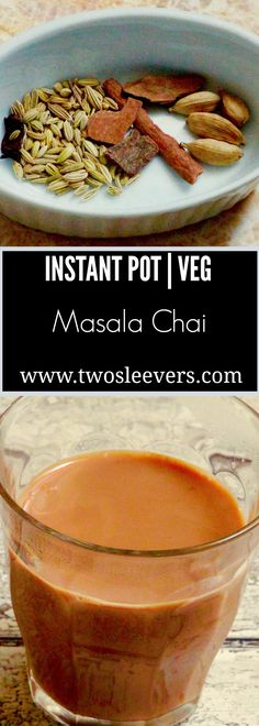 Instant Pot Homemade Masala Chai. 4 minutes under pressure to make a phenomenal, authentic chai. Adjust spices and choice to milk to fit your dietary needs.