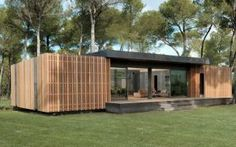 Pop-up house: revolutionary prefabricated house - PopUp Houses: a French company has developed a super simple passive house. Material costs from an i - Sustainable Architecture, Residential Architecture, Architecture Design, Prefabricated Houses, Prefab Homes, Popup, Up House, Tiny House, Modern Mobile Homes