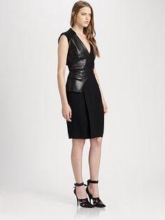 45d3ebefa81b On my wish list this season - Alexander Wang Leather Trim Wrap Dress Size 6  Dress