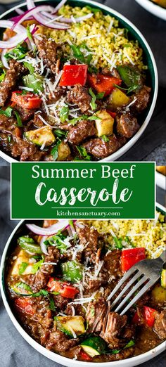 How to lighten up a beef casserole to make it into a delicious summer dinner!