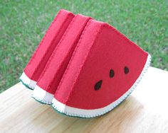 Watermelon Slice Felt Food Play Food by FiddledeeDeeCraft on Etsy, $20.00