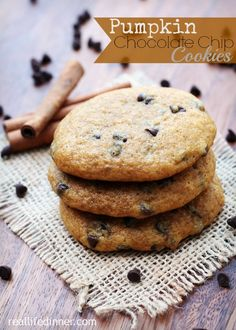 Pumpkin Chocolate Chip Cookies : This recipe has been in my family for years! It's the BEST!