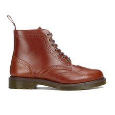 Dr. Martens Men's Affleck Brogue Lace Up Boots - English Tan Analine: Image 01