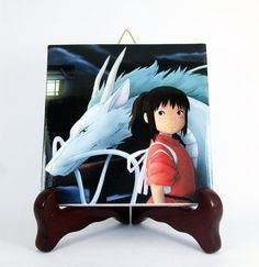 Spirited Away Ceramic Tile  Handmade from Italy  by TerryTiles2014