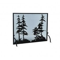 50 Wide X 38 High Tall Pines Fireplace Screen - #109441