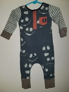 82f6d21cd Extra Off Coupon So Cheap Nightmare Before Christmas month) Henley Romper  Rags to Raches EUC