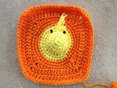 Woodstock crochet square, crochetbug, project linus, crochet blanket, crochet afghan