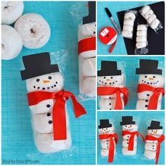 Snowman Donuts Kids Snack Idea I Heart Arts n Crafts - Shared Hosting - Now that its officially December Christmas is in full swing here in our house with crafts decorations and of course holiday recipes! With my son in preschoo Homemade Christmas Gifts, Christmas Gifts For Kids, Christmas Goodies, Christmas Projects, Christmas Goody Bags, Christmas Favors, Handmade Christmas, Christmas Party Snacks, School Christmas Party