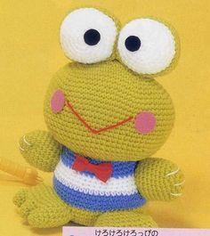 ♥ Blog: Un Poquito de Todo: Patrón amigurumi Sapo, crochet