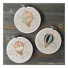 Personalized Baby Name Hot Air Balloon by LittleThimbleStudios
