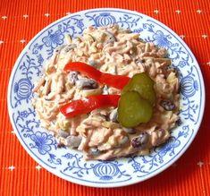 Fazolový salát :: Domací kuchařka - vyzkoušené recepty Risotto, Chicken, Ethnic Recipes, Food, Salads, Hoods, Meals, Kai