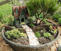 Beautiful magical fairy garden craft and ideas (23)