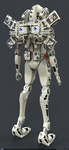 New Rio de Janeiro police department — Компьютерная графика и анимация — Render. Cyberpunk, I Robot, Robots Robots, Robot Costumes, Humanoid Robot, Sci Fi Armor, Suit Of Armor, Robot Design, Mechanical Design