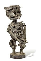 Robert Jacobsen: Standing figure. Signed RJ. Patinated iron. H. 64 cm.  Robert Jacobsen, b. Copenhagen 1912, d. Egtved 1993