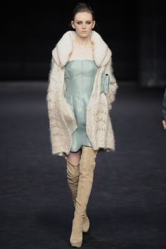 Knitted coat by Ermanno Scervino. Fall 2009 RTW