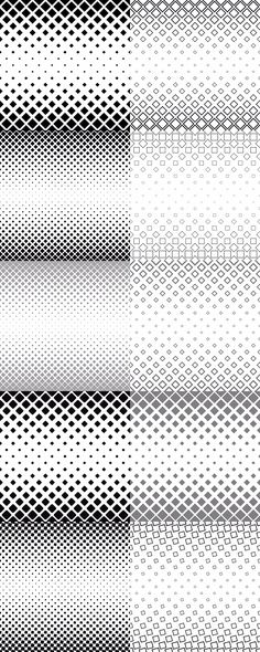 99 monochrome vector square pattern backgrounds