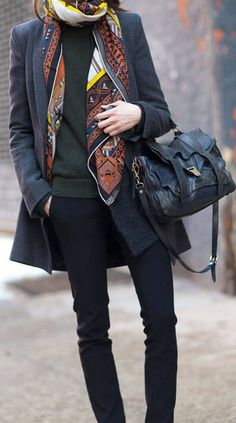 We're already planning all the ways to tie our silk scarves this season! Pair with your favorite trench coats, cozy sweaters and layered blouses for a chic fall and winter look!
