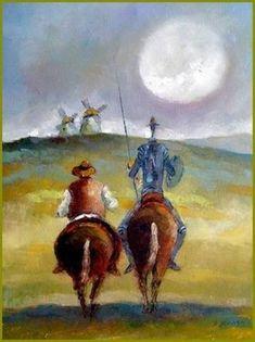Don Quijote. Possible book cover idea for Spanish assignment High Fantasy, Medieval Fantasy, Don Quixote Quotes, Tilting At Windmills, Man Of La Mancha, Dom Quixote, Fantasy Fiction, Beautiful Artwork, Spirit Animal
