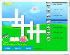 "Crucigrama ""Family Members"" English Play, Social Science, Esl, Spelling, Interactive Activities, Crossword Puzzles, Teaching Resources, International Day Of, Learning"