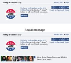 Social media helps turn out the vote.