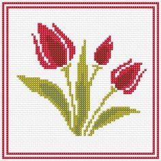 77 x 77 stitches 4 colors 123 Cross Stitch, Cross Stitch Flowers, Cross Stitch Designs, Cross Stitch Patterns, Embroidery Stitches, Embroidery Designs, Cross Stitch Calculator, Cross Stitching, Needlepoint