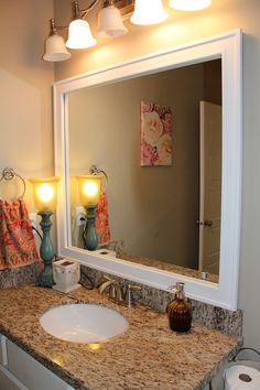 Items Similar To Frame For Existing Mirror Bathroom Decorative Mirrors On Etsy