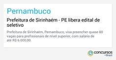 Prefeitura de Sirinhaém - PE libera edital de seletivo - http://anoticiadodia.com/prefeitura-de-sirinhaem-pe-libera-edital-de-seletivo/