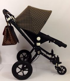 Omg! This custom bugaboo Cameleon canopy matches my Louis Vuitton Damier so nicely!!!