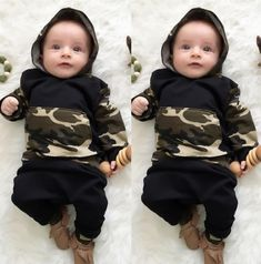 Cheap baby clothing set, Buy Quality clothing sets directly from China set boy Suppliers: 2017 Baby clothing Set boy cotton long sleeve hooded sweatshirt+pants Infant bebe boys clothes hoody set toddler kids cloth set Baby Boy Clothing Sets, Baby & Toddler Clothing, Toddler Outfits, Newborn Clothing, Children Clothing, Girl Clothing, Baby Outfits Newborn, Baby Boy Outfits, Mode Camouflage