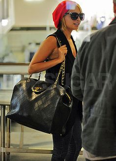 """not even the picture, but what ashley madekwe wrote about it on her blog:  """"It's big. It's black. It's quilted. It's Chanel. Do I need to say more?  I NEED THIS IN MY LIFE.  Anyone know what this bag is called???  Links to pictures of this bag will be greatly appreciated. Send me Chanel bag porn!!!"""" LOOOOOL I DIED"""