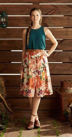 Saia Midi Vintage Floral