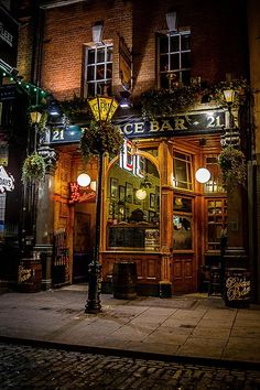 Palace Bar Pub, Dublin, Ireland. If you're upstairs, tell…
