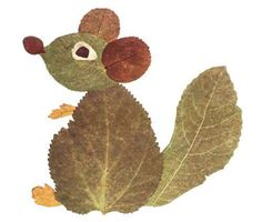 Squirrel leaf art - from predskolaci. Autumn Leaves Craft, Autumn Crafts, Fall Crafts For Kids, Autumn Art, Nature Crafts, Art For Kids, Leaf Projects, Art Projects, Art Floral