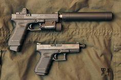 TSD Glock 17 today—an AAC Ti-Rant 9mm suppressor