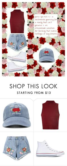 """Paris State Of Mind"" by fashion4infinity22 ❤ liked on Polyvore featuring Forever 21, Glamorous, House of Holland and Converse"