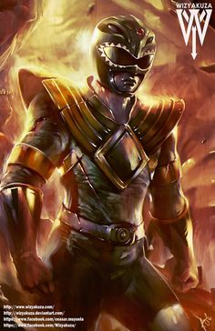 Ranger verde - Trakeena Mighty Power Rangers - impresión Digital de 11 x 17