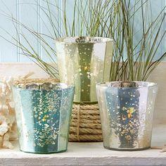 Ocean inspired Votive Glass Holders