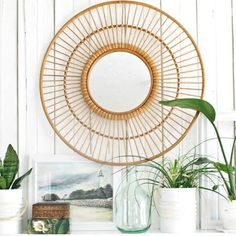 Mirror Mirror on the wall you are the coolest of them all :) I love my new rattan mirror from @Target so much!
