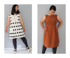 Marilla Walker: new Bennett dress pattern Dress Sewing Patterns, Clothing Patterns, Add Sleeves, Diy Wardrobe, Sewing Blogs, Viscose Fabric, Large Women, Dressmaking, Shirt Style